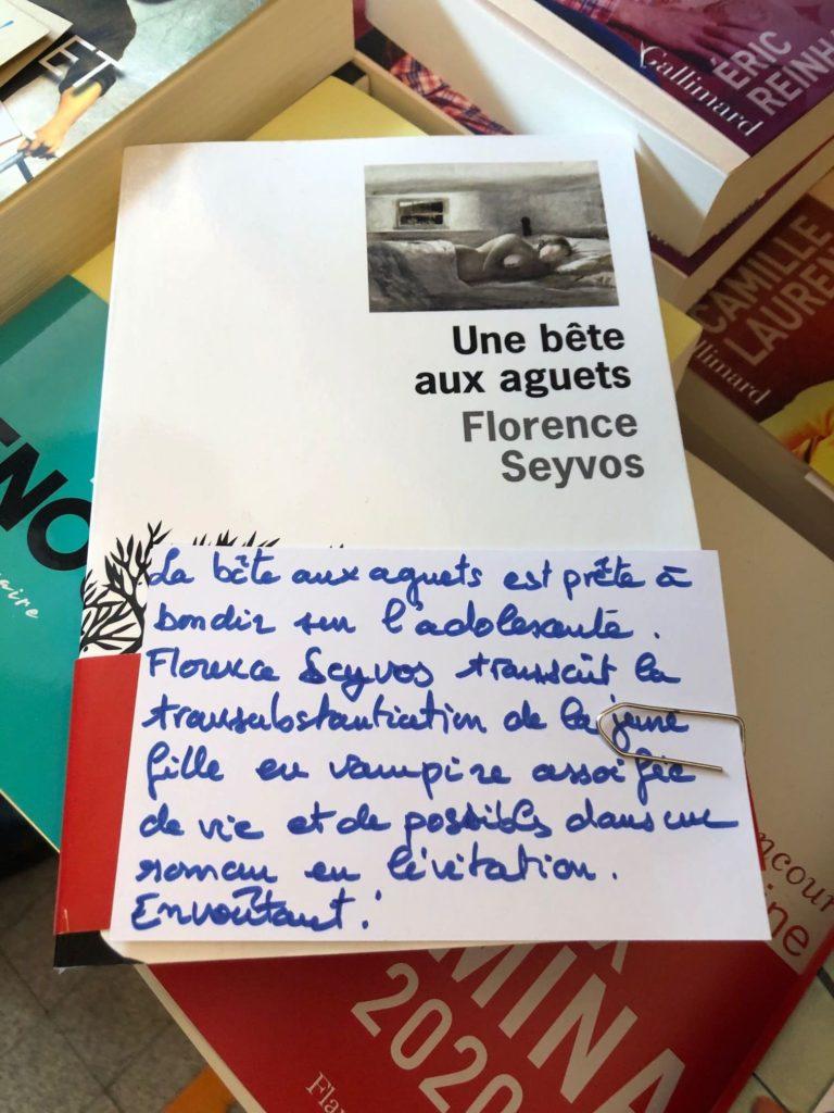 Florence Seyvos, Une bête aux aguets