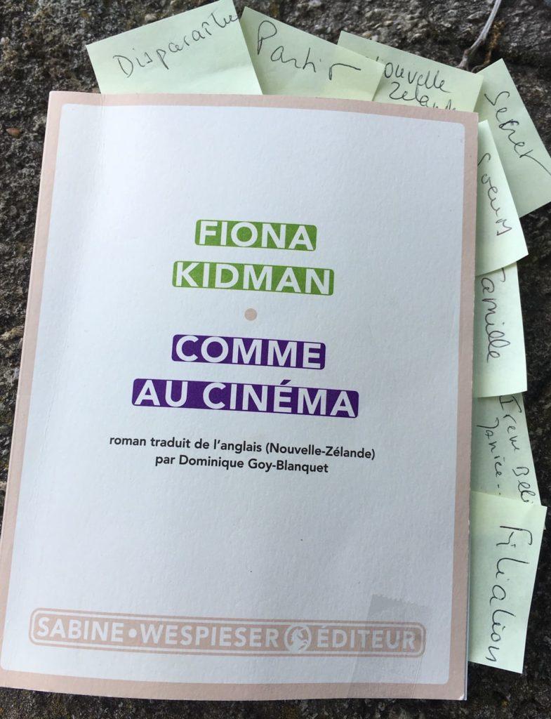 Fiona Kidman, Comme au cinéma
