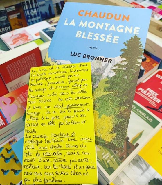 Luc Bronner, Chaudun La montagne blessée