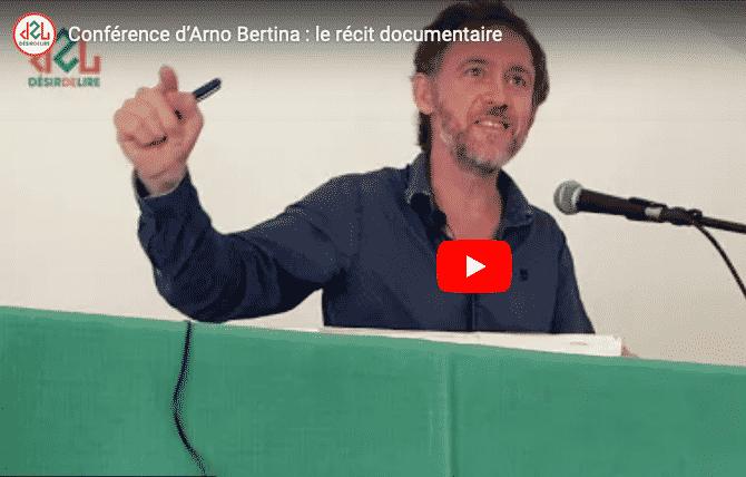 Conférence d'Arno Bertina : le récit documentaire – 29 mai 2021