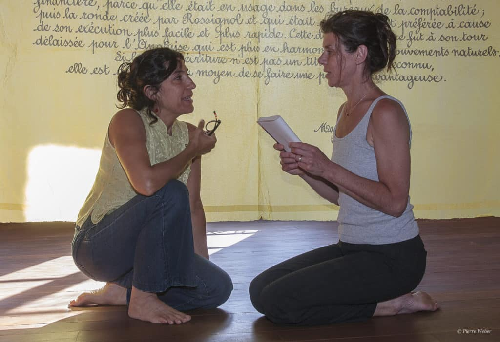 26/09,  Laurence Vilaine et Maryam Chemirani à Salagon