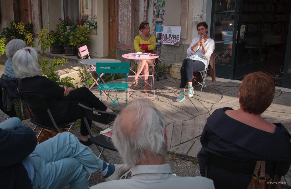 Laurence Vilaine, images de la rencontre à la librairie Regain – 9 juin 2021