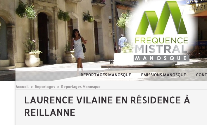 ITW Laurence Vilaine en résidence Désirdelire à Reillanne